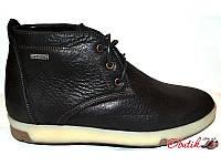 Ботинки мужские зимние eD-Ge кожаные черные eD0016