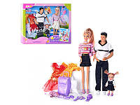 """Кукла """"Defa Lusy""""с Кеном и пупсом 20971 наряды, чемодан"""