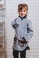 Толстовка детская серая, фото 1