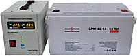 Комплект резервного питания ИБП Logicpower LPY-PSW-500 + АКБ LP-GL65 для 5-7ч работы газового котла
