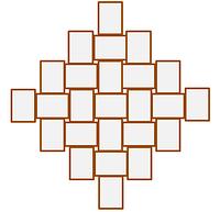 Деревянная мультирамка Ромб 25 - XL
