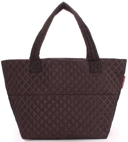Модная стеганая женская сумка POOLPARTY Broadway pp-broadway-fullbrown коричневая