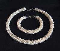 Украшения жемчуг набор ожерелье, браслет