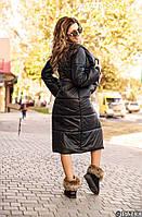 Пальто стеганное зимнее женское