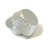 """Форма картон """"кекс"""" серебро (код 01773)"""