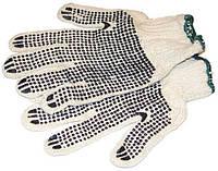 Перчатки рабочие с ПВХ точкой 7кл 2нит
