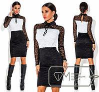 Стильное платье из ажурного гипюра