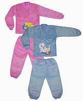 Пижама на 2-х кнопках с вышивкой (махра рваная)