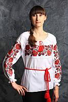 Оригинальна блуза с вышитыми розами