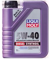 Моторное масло синтетика LIQUI MOLY 5W-40 1L Diesel Synthoil для Volkswagen , Mercedes-Benz , BMW , Skoda