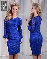 Нарядное платье из гипюра 411