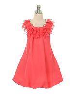 Шифоновое платье с жемчужным ожерельем 2-14лет (много цветов)