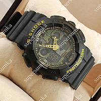 Практичные спортивные наручные часы Casio G-Shock GA-100 Black/Military 6097
