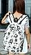Прекрасный женский  городской рюкзак 16 л. URBANSTYLE, 034 белый, фото 5