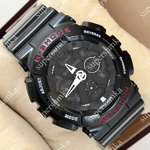 Надежные спортивные наручные часы G-Shock GA-120 All Black 1006-0212