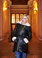Женская куртка из эко-кожи евро-зима большой размер
