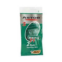 Одноразовый мужской станок для бритья BIC Astor 2 Blades Sensitive Skin (5 шт)
