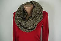 Теплый вязанный шарф