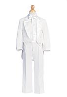 Белый костюм со смокингом на мальчика 2-18 лет(3 цвета)