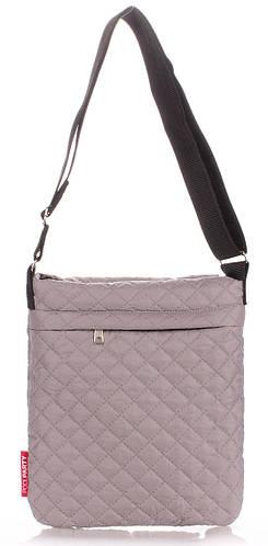 Женская стеганая сумка-планшет POOLPARTY pool-59-eco-grey серая
