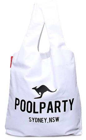 Женская повседневная коттоновая сумка POOLPARTY pool20-white белая