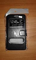 Чехол книга Nokia 630 черная с мягким держателем