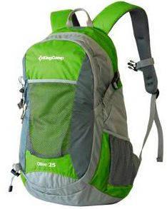 Городской молодежный вместительный рюкзак 25 л. KingCamp OLIVE KB3307 (94160) зеленый