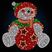 """3D фигура светодиодная """"Снеговик с игрушкой"""""""