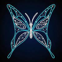 """3D фигура светодиодная """"Бабочка острокрылая"""", бело-голубая"""
