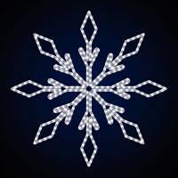 """Снежинка светодиодная """"Престиж"""", 33 Вт"""