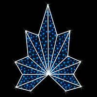 "Верхушка для ёлок светодиодная ""Корона"", 1.6х1.9м"