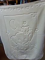 Плед-одеяло детское белый (в коробке), Турция