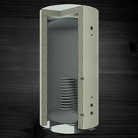 Теплоаккумуляторы KRONAS с нижним спиральным теплообменником