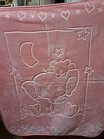 Плед-одеяло детское розовый (в коробке), Турция