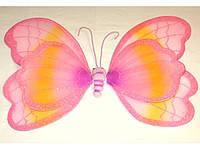 Крылья феи, розовые, двойные
