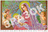 """""""Мадонна в саду"""".  Схема для вышивки бисером А2."""