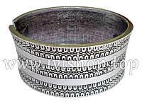 Браслет жесткий под серебро с орнаментом