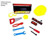 """Детский набор инструментов с каской в чемодане """"Юный Плотник"""" 32-005 Kinderway, 21 деталь"""