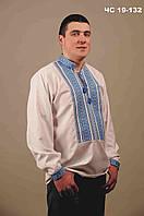 Мужская вышитая рубашка белая