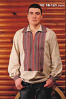 Мужская вышитая рубашка из льна