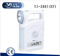 Фонарь переносной YAJIA YJ-2885 SY, 1W+22SMD, USB, радио