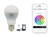 Смарт-лампа RGBW LED Bulb, управление через WiFi телефона