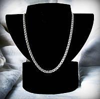 102 Серебряная цепочка Бисмарк плоский ручного плетения 925 пробы
