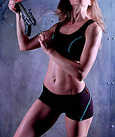 Короткие спортивные женские Шорты+топ Zevana Jackdaw