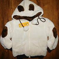 Детская Куртка - кофта плюшевая подкладка флис