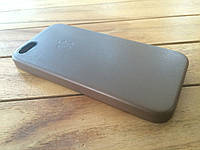 Кожаный чехол для iPhone 5/5s brown с логотипом (copy)