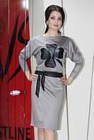 Женское платье 017, полубатал, с цветком
