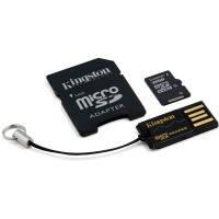 Карта памяти Kingston Micro SDHC 32Gb class 4 +SD adapter и cardreader USB