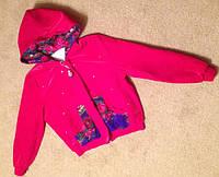 Куртка со стразами Матрешка Love  на синтепоне из велюра