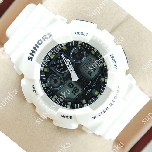 Элегантные наручные спортивные часы Casio Shors GA-100 White/Black 707